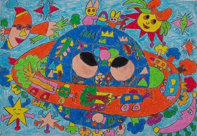 爱护地球妈妈儿童画_爱护地球儿童画